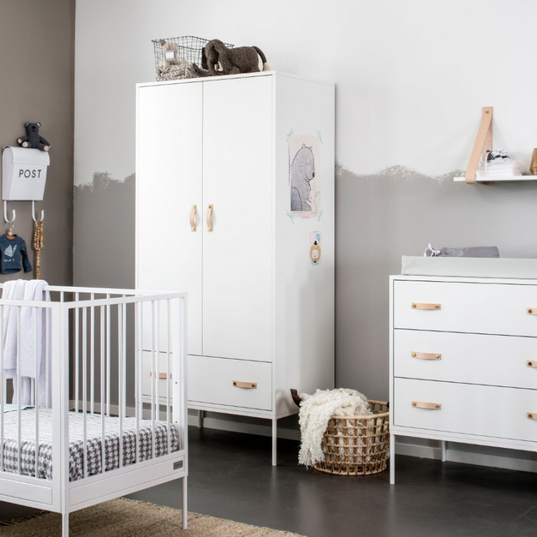 Babykamer Wit Grijs.Coming Kids 3 Delige Babykamer Bliss Wit