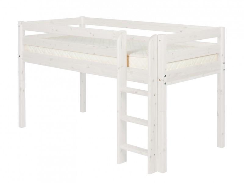 Flexa White Halfhoogslaper.Flexa Classic Halfhoogslaper Met Rechte Ladder White Wash