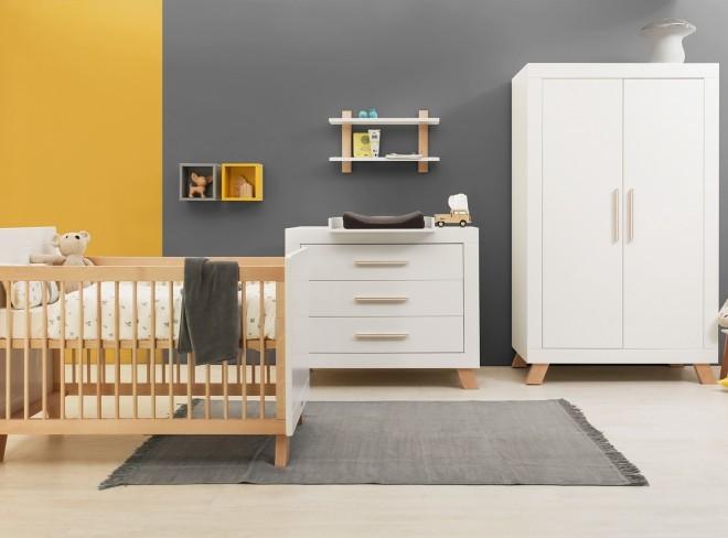 Babykamer Wit Met Hout.Bopita 3 Delige Babykamer Lisa Online Kopen Babyplanet