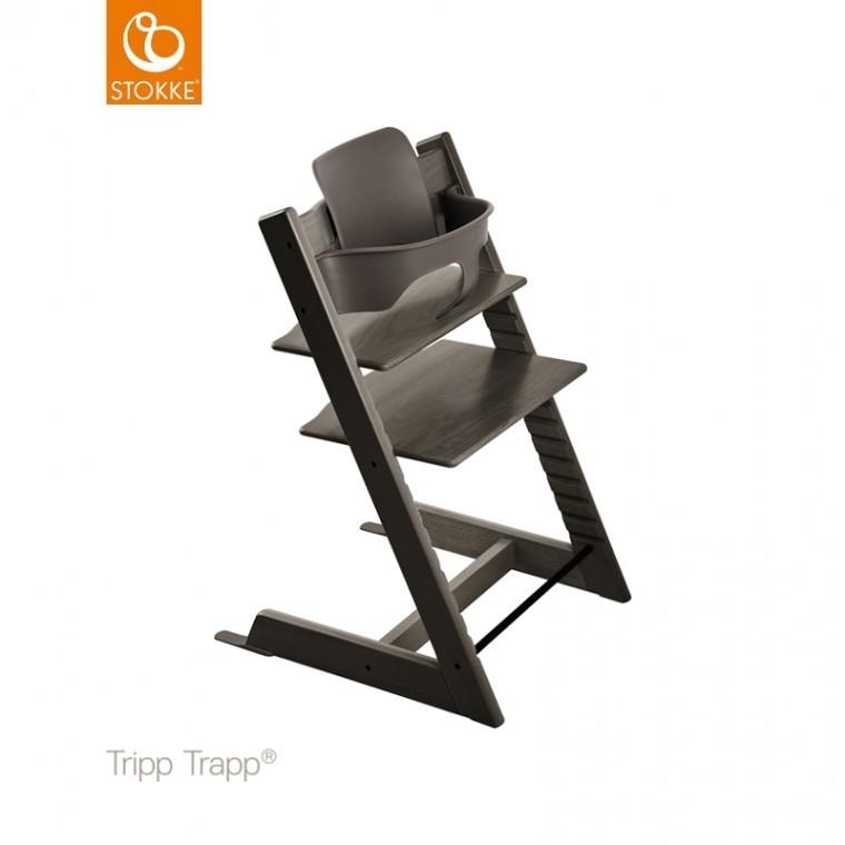 Stokke Kinderstoel Aanbieding.Stokke Tripp Trapp Hazy Grey Incl Babyset