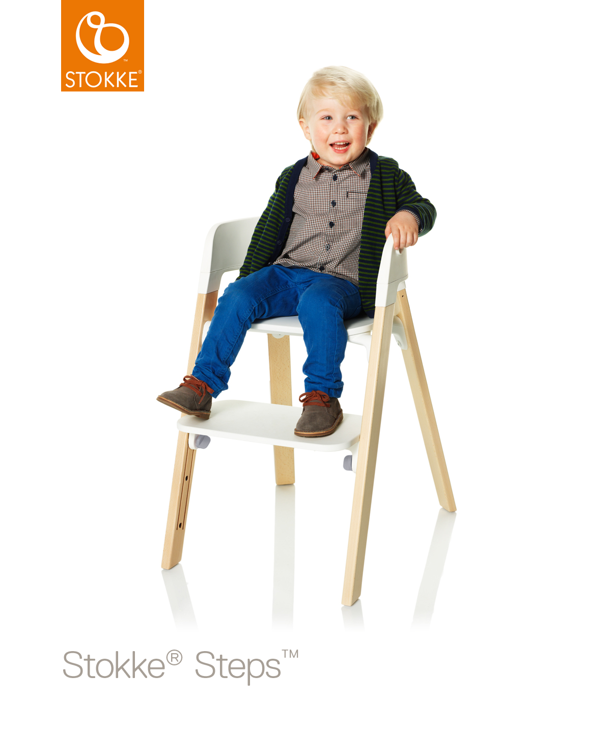 stokke steps beuken hazy grey kinderstoelen legs. Black Bedroom Furniture Sets. Home Design Ideas