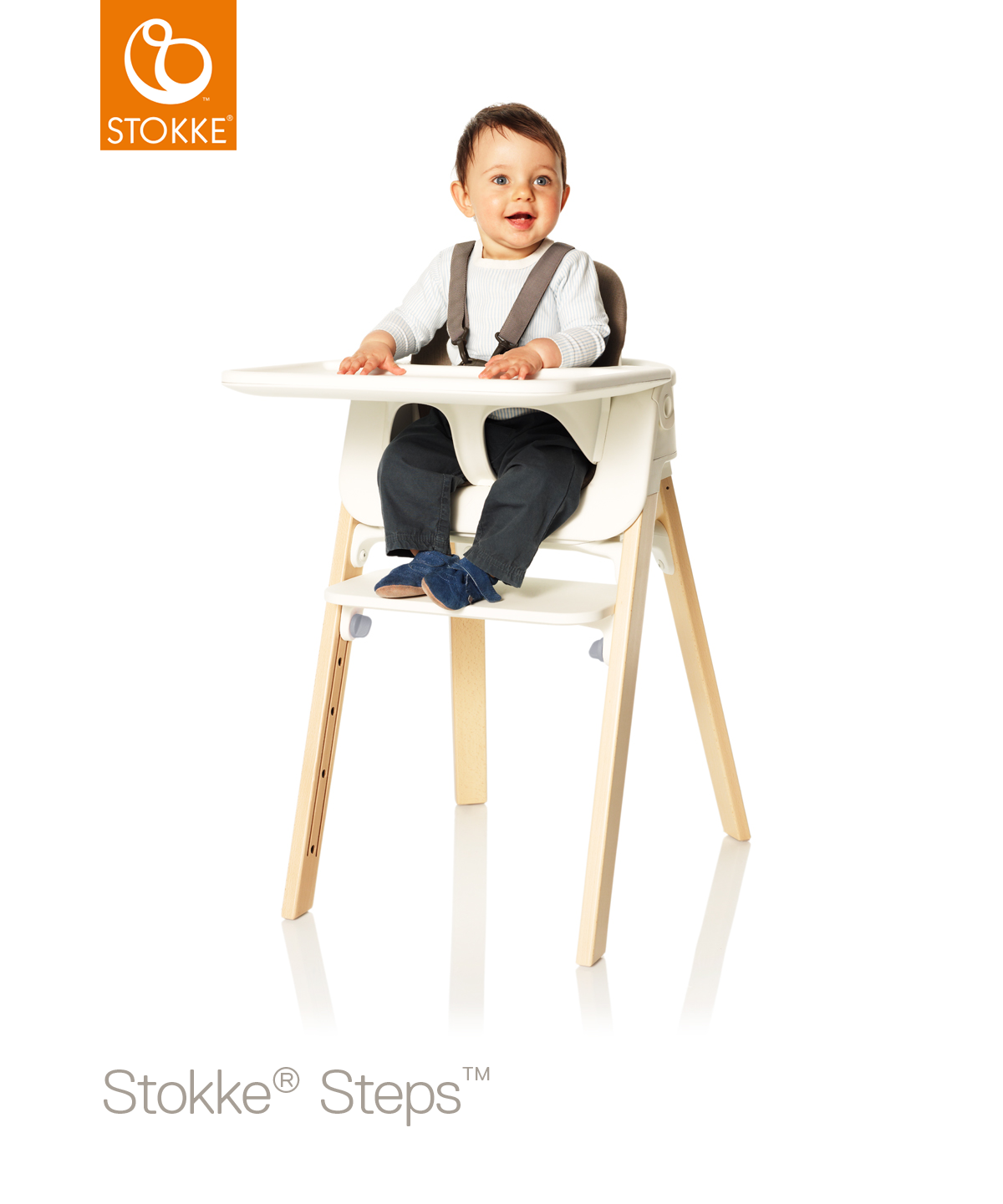 Kinderstoel Baby 6 Maanden.Stokke Steps Beuken Naturel Met Babyset Pink Online Kopen