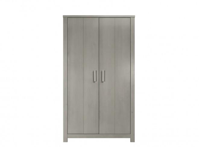 Bopita basic wood 2 deurs kast gravel wash online kopen? babyplanet